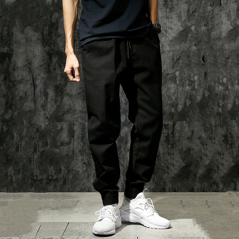 Harem Pants Pencil-Trousers Elastic Loose Large-Size Men's New-Fashion Youth Mid Washed