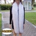 Super long 185 см искусственного меха лисы шарф экологичный искусственный мех енота глушитель зима женщины косплей пальто куртки теплый мех шарф