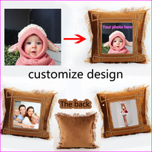 New Design Picture here Print wedding personal life photos customize gifts cushion cover pillowcase Suede Fabric Pillow
