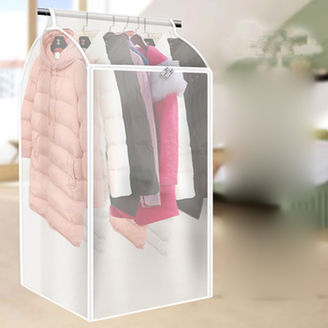 Large Clothes Storage Bag Case Vacuum Garment Suit Coat Hanging Organizer Dust Cover Protector Household Wardrobe