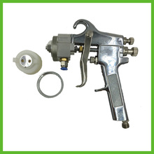 цена на SAT1182 High Pressure Gun HVLP Spray Gun Hot On Sale High Quality Silver Chrome Hvlp Paint Double Nozzle Spray Gun