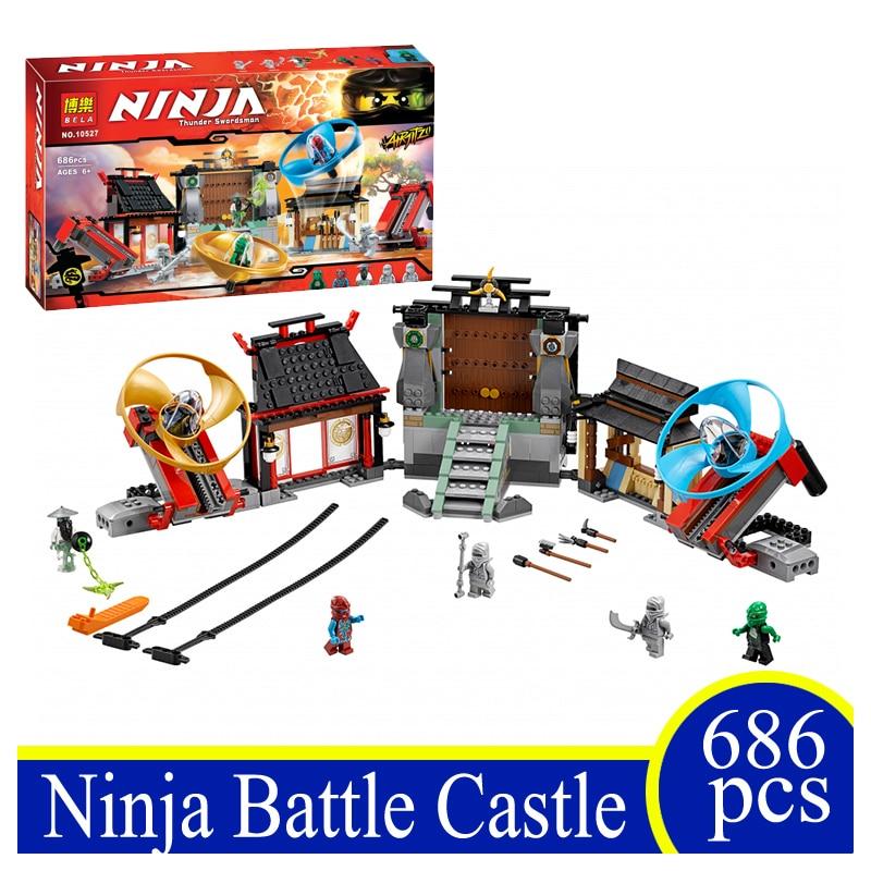 10527 686PCS Ninja Beyblade Battle Castle Building Block Bricks Action Figures Children Gifts Funny Compatible With LEPIN 70590  фонарик beyblade бейблейд morph lite цвет зеленый