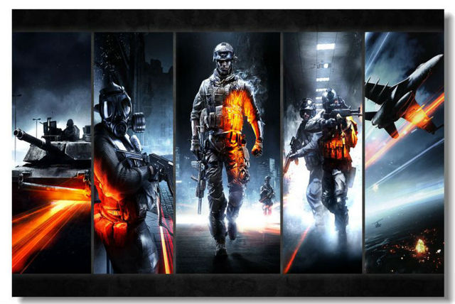Battlefield 4 Game Stylish Hd Wallpaper Pop Retro Kids Poster Decor