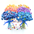 Package Gift Bouquet small production color button bouquet manual DIY package 40cm colorful wire