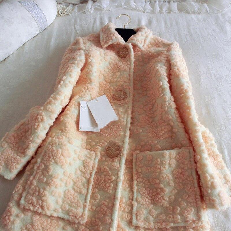 Manteaux Longue Luxe culture Mince Épais Mode Marque De D'hiver Veste Kenvy Laine Occasionnel Auto OpBUq