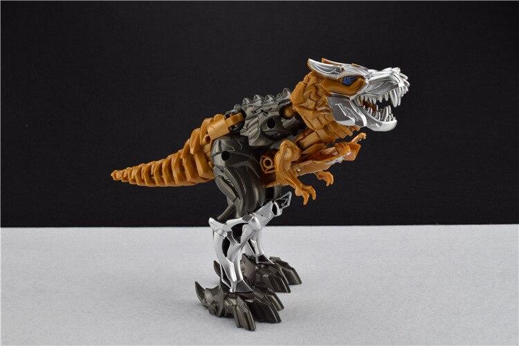 Plast Deformation Classic Robot Billeksaker Movie 4 Dinosaur Juguetes Action Figurer Pojkar Leksaker Presentmodell Brinquedos FSWOB