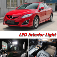 6pcs X Free Shipping Error Free LED Interior Light Kit Package For Mazda 6 Accessories 2008