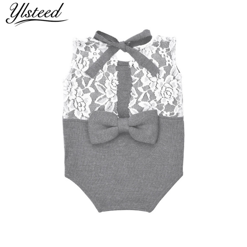 Newborn Baby Photo Props Crochet Lace Dainty Romper Baby Photography Props Infant Back Bowknot Overalls Photo Shoot Accessories 1 9 mini digital lcd indoor outdoor thermometer with clock 50 70 c 1 lr44