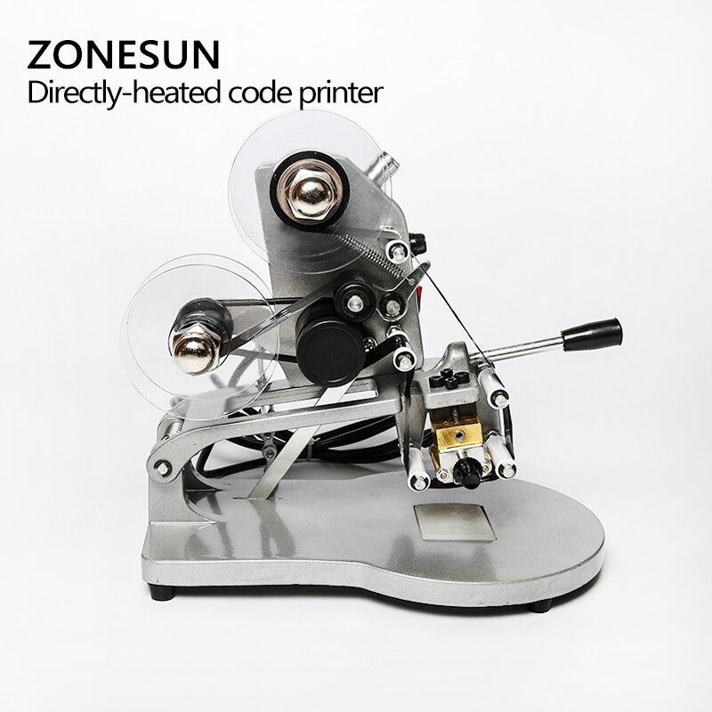 Machine de codage de date ZONESUN imprimante de code de date d'expiration manuelle, codeur de timbre Foll chaud, machine de date d'expiration - 4