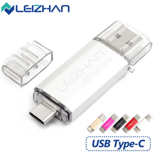 LEIZHAN 2pcs 128GB USB Flash Drive 16GB Type-C Pen drive USB 3.0 Photo stick 32GB Wholesale Pendrive 64GB USB C Smartphone UDisk leizhan otg usb stick type c pen drive 256gb 128gb 64gb 32gb 16gb usb flash drive 3 0 high speed pendrive for type c device usb
