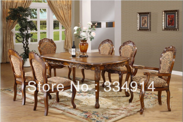 Solid Wood Dining Table Of Europe Type Rectangular West Cloth Art Antique Furniture In Room Sets From On Aliexpress Alibaba Group