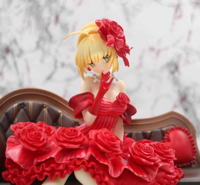 20cm Fate Stay Night Extra Red Saber Nero Claudius Caesar Augustus  Germanicus Sexy girls Anime PVC Action Figures toys Anime