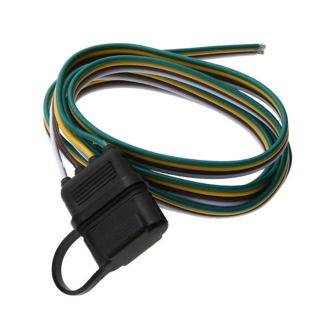 US $3 99 18% OFF| Car 5ft 4 Pin Plug Trailer Light Wiring Harness Extension  Adapter Wire Connector 12V American Plugs Extension Cable-in Cables,