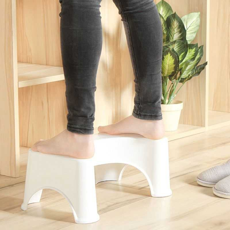 U-Shaped Squatting Toilet Stool Non-Slip Pad Bathroom Helper Assistant Footseat Relieves Constipation Piles