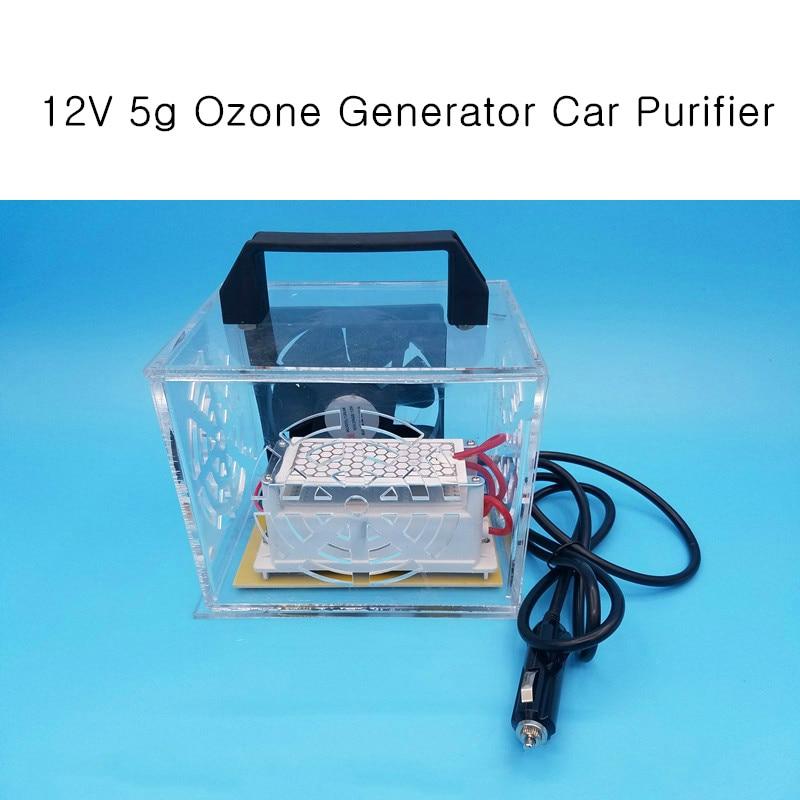 12V 5g Ozone Generator Car Purifier AUTO Air Cleaner home ozone disinfection Sterilizer Portable Ozoner цена
