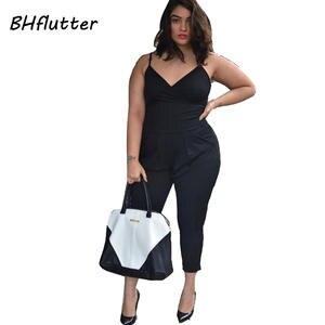 d83e1fd91d42 top 10 most popular black spaghetti strap jumpsuit plus size list