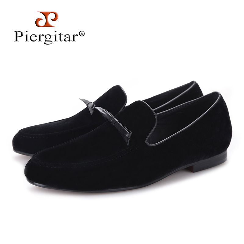 PIERGITAR 2018 new Handmade men loafers with Tie design Plus size male flats Fashion Prom and Banquet men smoking slippers piergitar 2017 new handmade men loafers with tie design fashion prom and banquest men smoking slippers plus size male flats