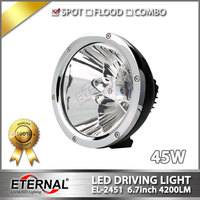 Free Shipping 2pcs 6 7in Round LED Driving Light 45W Cannon LED Spotlight For 4x4 Off