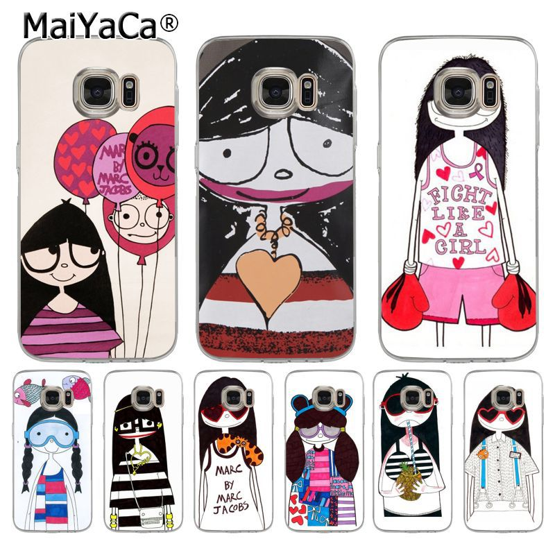 competitive price 50e90 8109e US $1.32 49% OFF|MaiYaCa Marc by Marc Jacobs Miss Marc lovely girl soft tpu  Cell Phone Case for samsung galaxy s7edge s6 edge plus s5 s8 s7 case-in ...