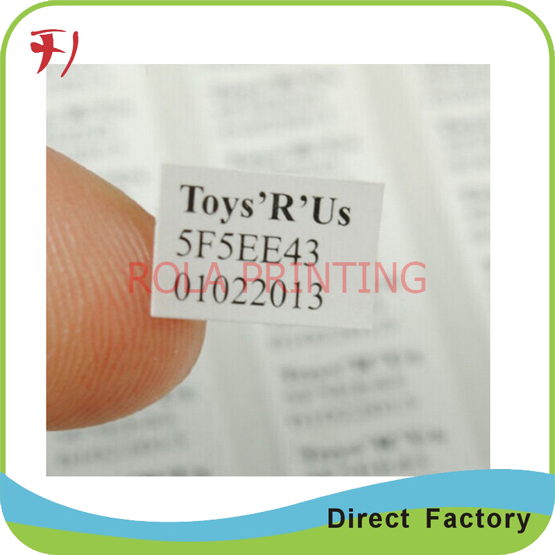 Customized Water Proof Barcode Label with Good Quality