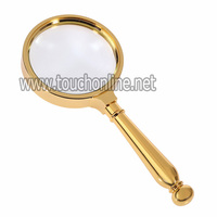Metal alloy Bronze 10X Classic Reading Magnifier Loupe MG10X80