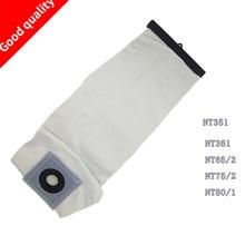 Piezas de aspiradora lavables de calidad superior para KARCHER bolsas de filtro de polvo de tela NT351 NT361 NT65/2 NT75/2 NT80/1