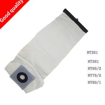 TOP Quality Washable Vacuum Cleaner Parts For KARCHER VACUUM CLEANER Cloth DUST Filter BAGS NT351 NT361 NT65/2 NT75/2 NT80/1