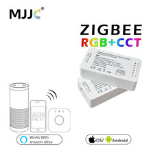 ZIGBEE – contrôleur de bande LED RGB CCT, contrôleur de contrôleur de bande, dc12v 24V, ZLL App, RGBW RGB