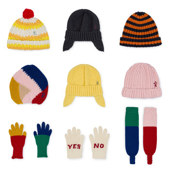 2018 autumn winter boys clothing girls clothing kids scarfs bobo choses new hats baby hats caps gloves boys clothing sets