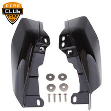 For Harley Touring Road King Street Glide FLHX Electra Glide Black Mid Frame Air Deflectors Trim