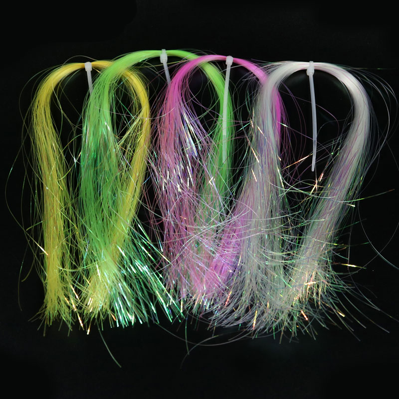 6packs Flat Disco Pearl Sparkle Flash Crystal Tinsel Fly Tying Material Saltwater Streamer Bait Fish Lure 5sheets pack 10cm x 5cm holographic adhesive film fly tying laser rainbow materials sticker film flash tape for fly lure fishing