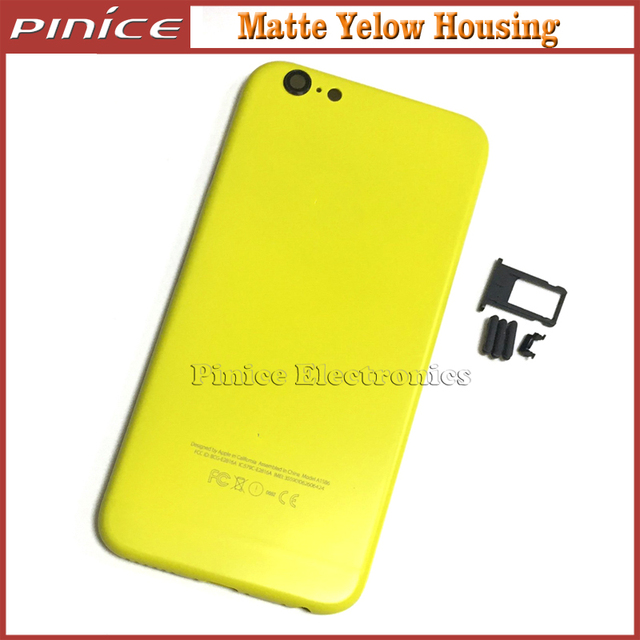 Yellow Back Housing Cover For iPhone 6 6S 4.7 inch Metal Back Chassis Replacement For iPhone 6 Plus 6S Plus 5.5 inch