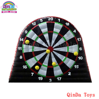 2017 hot product 6m high 7m long darts professional design, inflatable football dart board with sticky balls