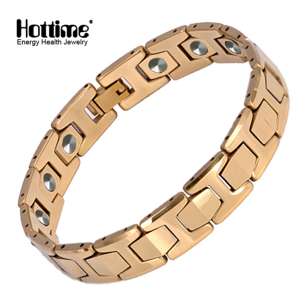 SGS authentication 15PCS 99.9999% Germanium Tungsten Bracelet Never Fade Golden Pain Relief for Arthritis and Carpal Tunnel