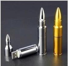 128 GB מכירה חמה 2.0 כונני פלאש USB מתכת Bullet כונן עט כונן USB Flash 64 גרם 32 גרם 16 גרם 8 גרם Keyring מתנות זיכרון Pendrive מקל