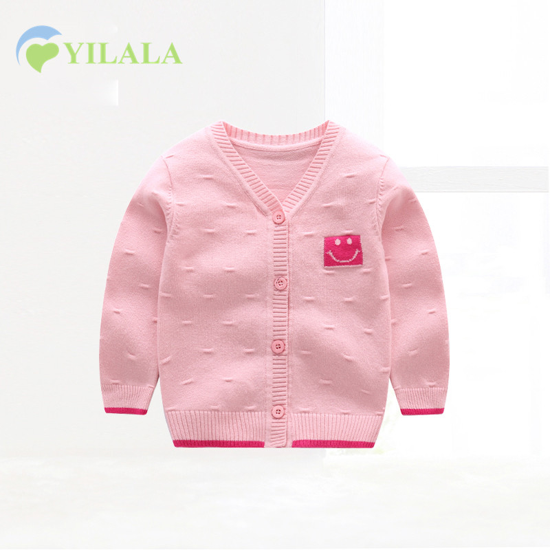 Casual Newborn Baby Sweaters Cotton Solid Baby Sweater V-Neck Long Sleeve Infant Clothes Spring Boys Sweater Baby Girls Clothin
