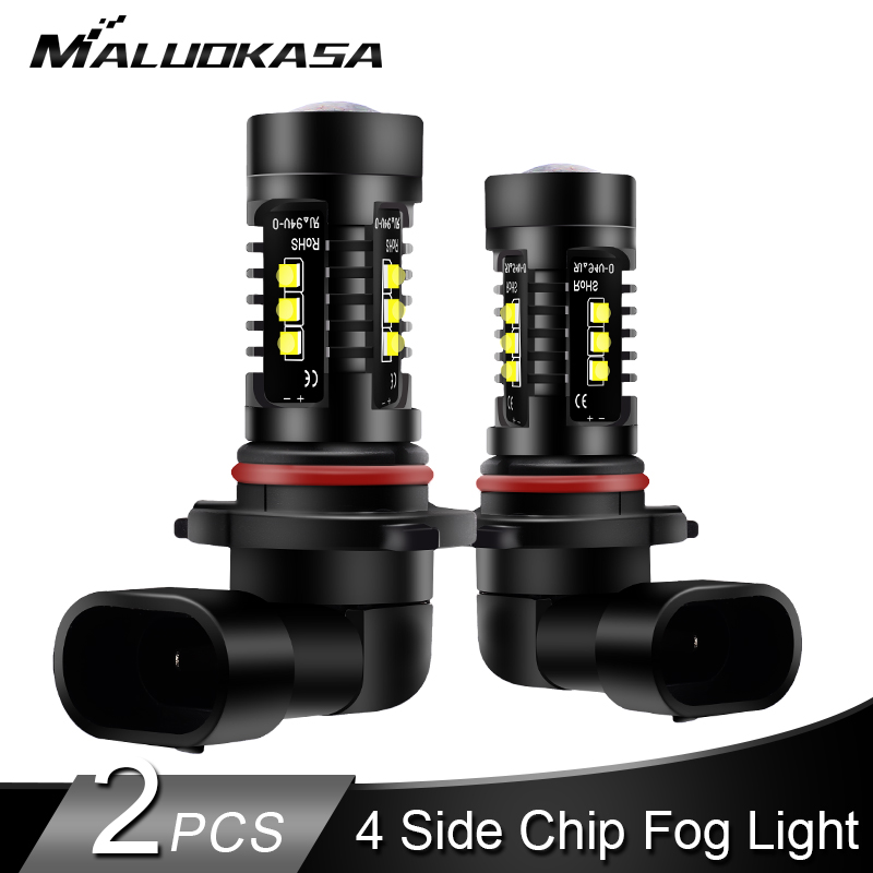 2PCS H8 H11 LED Fog Light 4000LM/set 4 Side Chips H9 H10 HB3 HB4 LED Car Fog Lamp Running Headlamp Bulb 12V 24V Car Accessories