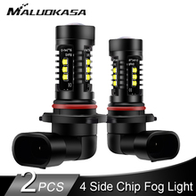2PCS H8 H11 LED Fog Light 4000LM/set 4 Side Chips H9 H10 HB3 HB4 LED Car Fog Lam