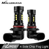 2PCS H8 H11 LED Fog Light 4000LM/set 4 Side Chips H9 H10 HB3 HB4 LED Car Fog Lamp Running Headlamp Bulb 12V 24V Car Accessories