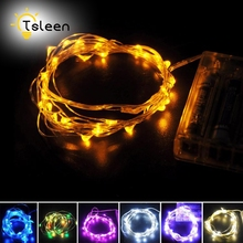 tsleen 5x5m 3aa battery operated led holiday lights christmas decor mini silver wire invisible fairy starry twinkle string light - Battery Operated Mini Christmas Lights
