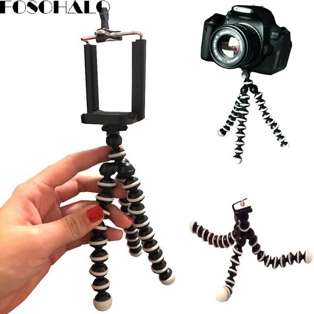 FOSOHALO 165x35x35mmUniversal Mini Polvo Tripé Spong Para Telefones Móveis Pequeno Leve DLSR Câmeras Acessórios