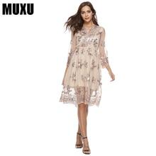 MUXU gold sequin dress patchwork loose fashion woman clothes sukienka plus size women clothing roupas kleider sundress