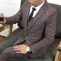(Chaqueta + Chaleco + Pantalones) 2016 nuevo estilo de trajes de hombre de negocios casual joker contratado boda de la Alta calidad chaquetas de traje de Envío Libre
