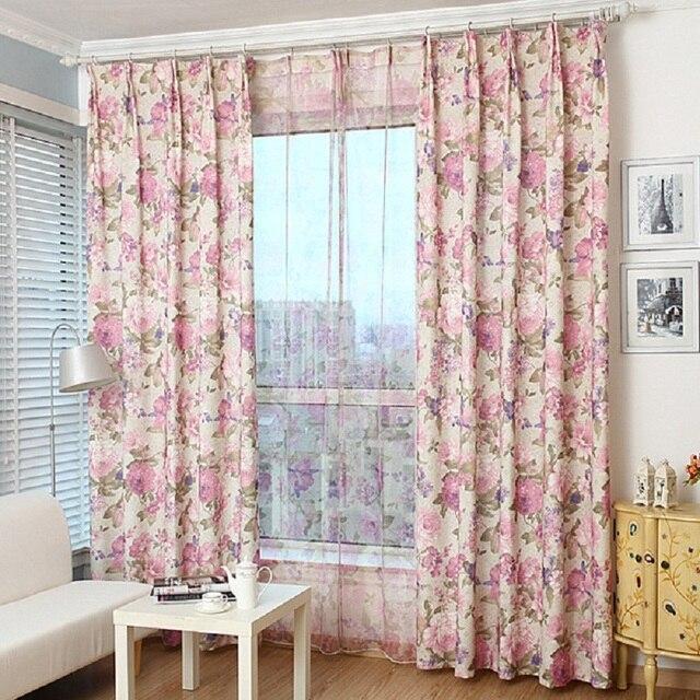 Blackout Vorhang Für Wohnzimmer Schlafzimmer Amerikanischen Land Stil  Floral Polyester Cortinas Fenster Vorhang Dekoration Vorhänge