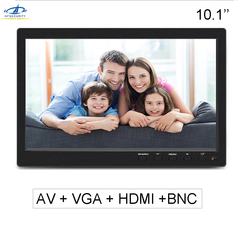 HF 10.1 Inch 1024 * 600P CCTV Monitor AV HDMI BNC VGA Video Monitor PAL Monitor Reversing Display Laptop TFT Color Screen 1