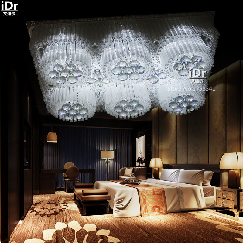 Modern minimalist LED crystal lamp living room bedroom flat low voltage lights Ceiling Lights wwy-0246 luxury lamp led crystal smoke gray living room restaurant bedroom modern low voltage lights circular fashion ceiling lights