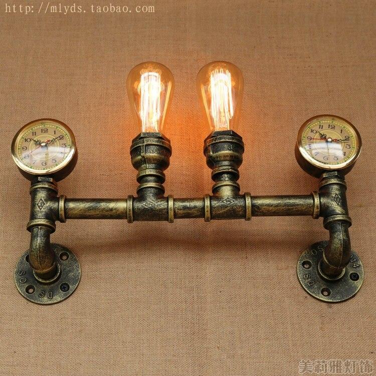 Vintage Wand Leuchten Wasser Rohr Antik Industrie Beleuchtung Retro Lampen Loft