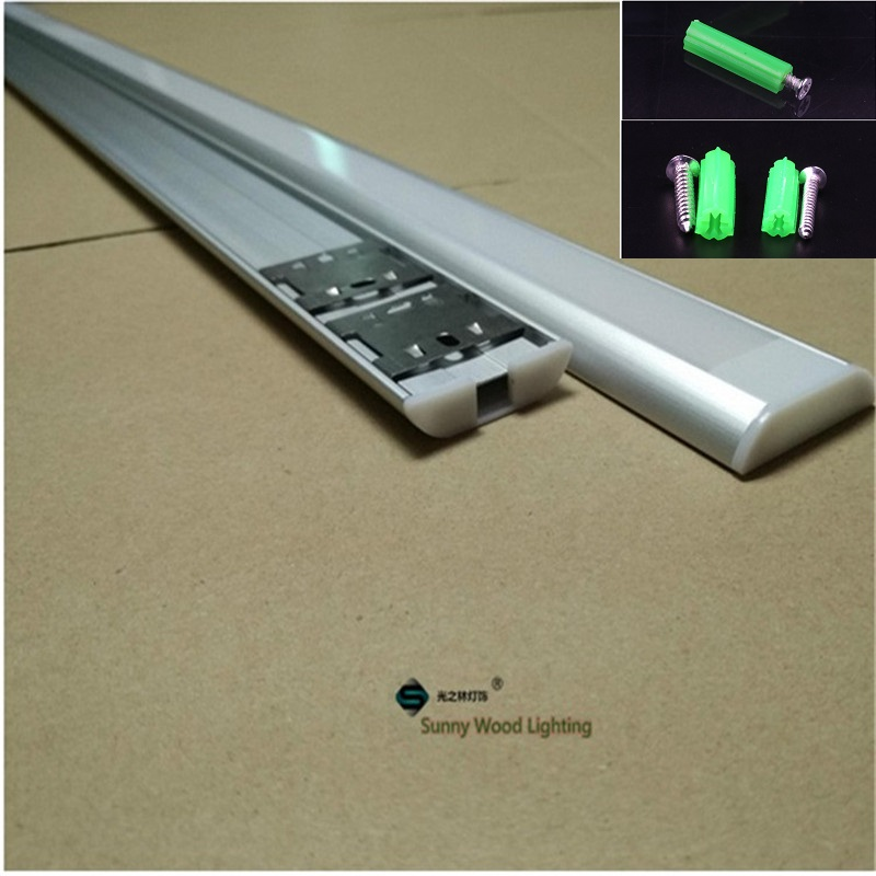 Image 4 - 5 30pcs/lot 40inch 1m  Led channel for strips,  dual row tape led aluminium profile for 26mm pcb ,clear/milky frosted cover bar-in LED Bar Lights from Lights & Lighting
