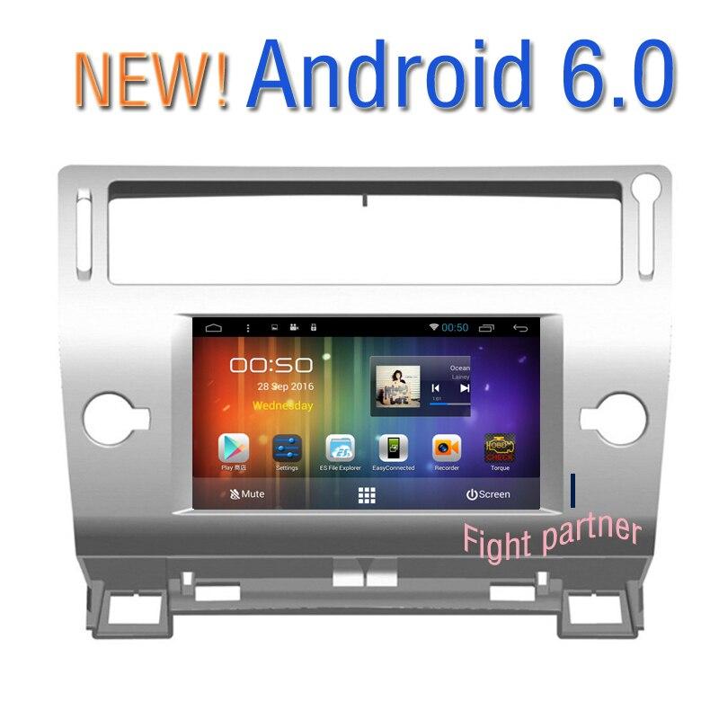 8icnh HD Android 6.0 Car DVD GPS Citroen C4 C-Triomphe C-Quatre 2004 2005 2006 2007 2008 2009 - Good partners Store store