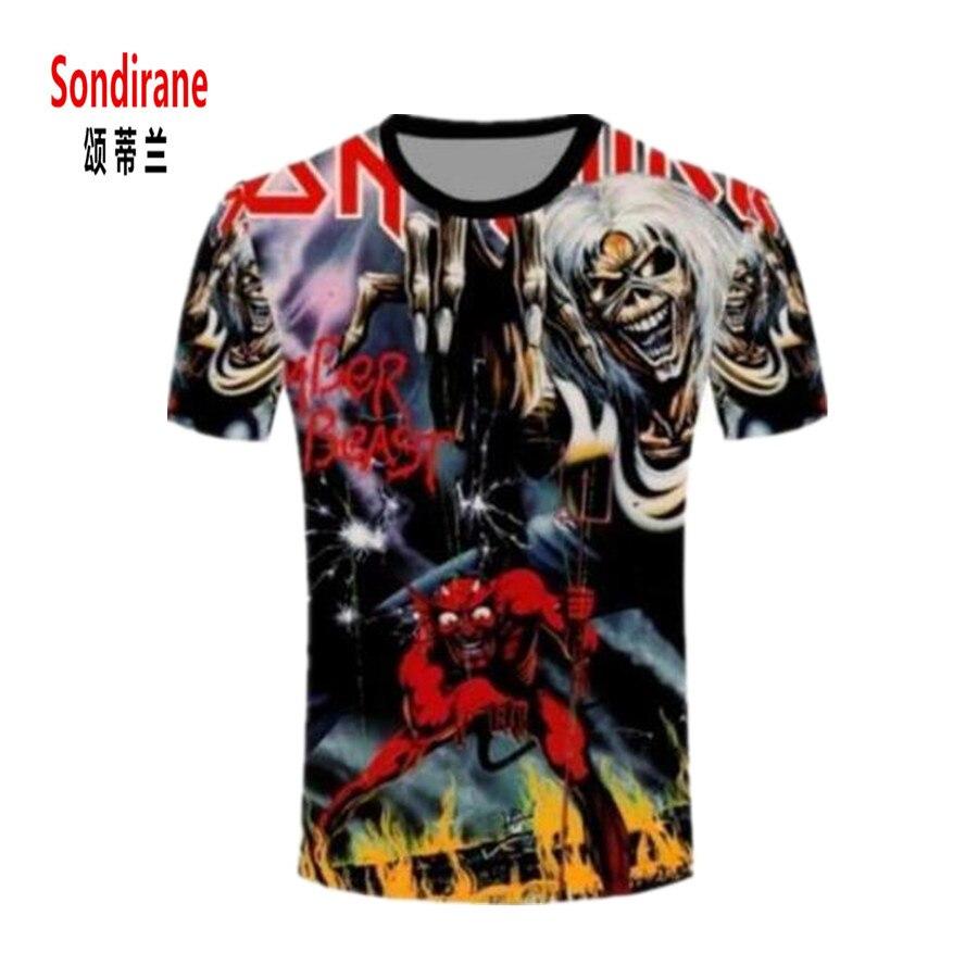 Sondirane Womens font b Mens b font Iron Maiden Killers Funny 3D Print font b T